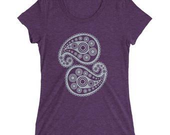 Ladies' short sleeve t-shirt - paisley