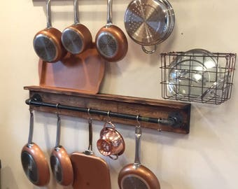 Black Iron Pipe Pot Hanger