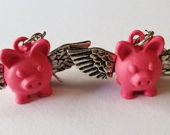 Flying Pig Earrings