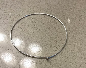 Silver dainty hoops