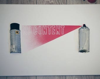 """Spray can painting (""""No content"""")"""