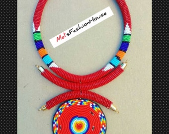 African Beaded neck chockers