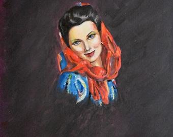 Peasant Woman - Watercolor Print