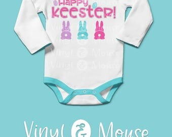 Happy Keester SVG Cutting File, Cricut Cameo svg dxf, Cute Easter svg, Bunny Tail svg, easter bunny svg, Easter dxf, Easter Iron On