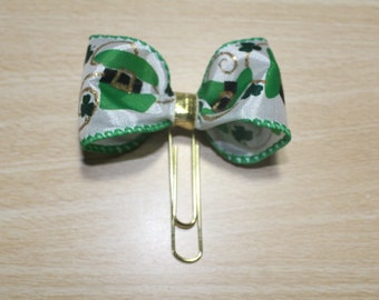 St Patrick Hat Bow Clip/Planner Clip/Planner Bow Clip/Bow Clip/Page Marker