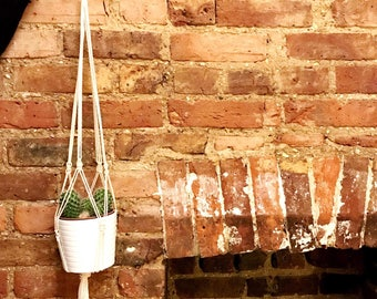 Macrame Plant Hanger / Plant Holder / Hanging Planter
