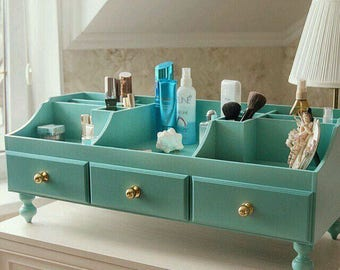 Inspirational women gift Makeup organizer Makeup brush holder Nail polish shelf  Beauty station Beauty salon decor Beauty shelf