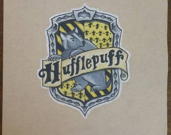 Prismacolor Drawing - Hufflepuff House Crest