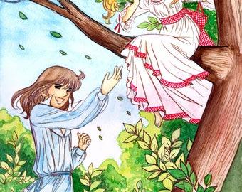 Cany y Terry jugando en el bosque