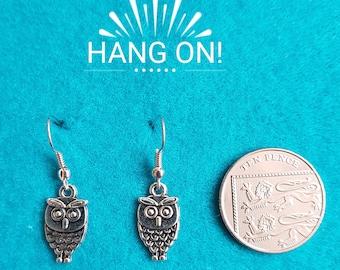Handmade Tibetan Silver Owl Earrings