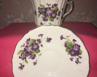 Old Royal Bone China Tea Cup and Saucer Set