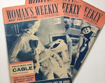 X 3 Woman's Weekly Best For Knitting (Paperback, 1962)