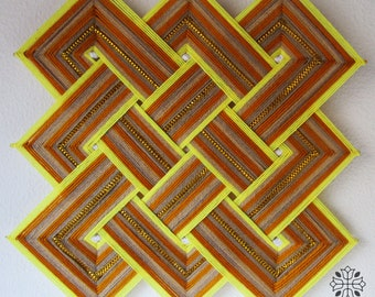 Celtic knot Mandala-golden yellow/35cm