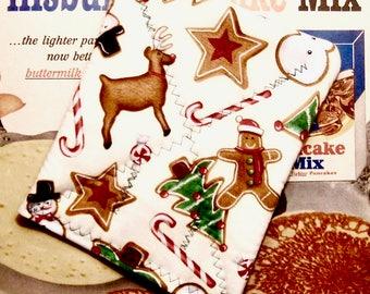 Handmade Pot holder Christmas Cookies & Gingerbread Man