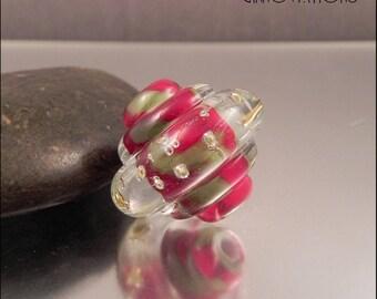 Ginnovations lampwork, Holiday Garland focal bead