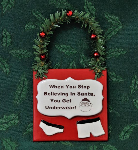 Believe Sign - Believe in Santa Sign - Door Hanger - Holiday Sign - X-mas Sign - Christmas Decoration - Ornament Exchange - Holiday Decor
