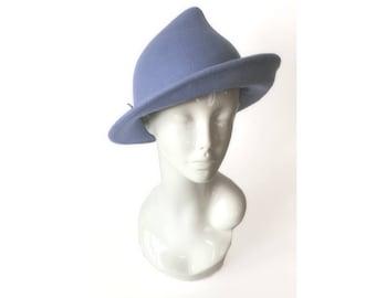 Fleur Delacour Hat Tulip Hat Light Blue Hat Millinery Wool Hat Witch Wizard Elf Magic MsVendettaMillinery