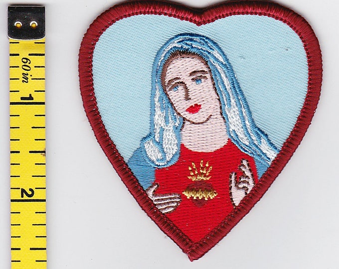 Iron On Patches - Maria in Heart by Artist Chuck Wagon