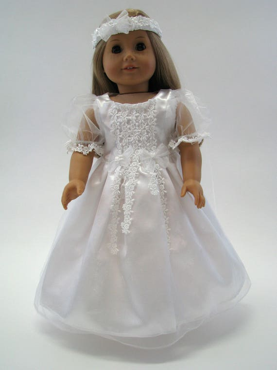 White Wedding Dress - 18 Inch Doll Clothes