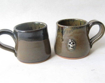 Espresso Cups  Unique Set of 2, Skull Espresso Cup