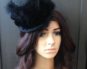 Mini Top Hat Steampunk Fascinate Black Velvet Tapestry Fascinator