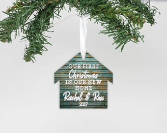 Our 1st Home, Metal Ornament, First Home, First Christmas, Realtor Gift Idea, New Home, Christmas Ornament, Custom Gift --24183-OR93-018
