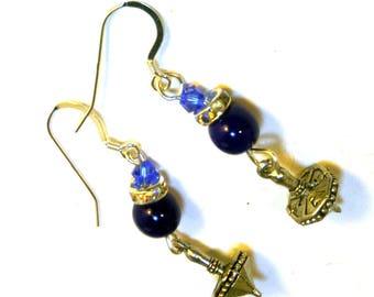 Hanukkah Dreidel Earrings - Chanukah Gifts Hanukkah jewelry Dreidel charms