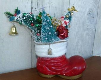 Overflowing Santa's Boot, Christmas Trees, Bottle Brush Trees, Christmas Bell, Santa Claus, Presents, Shooting Stars