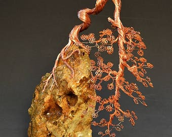 Bonsai Tree Art Sculpture Handcrafted By H-Omer - 2322 - FREE SHIPPING