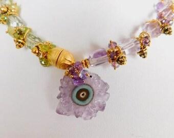 Stalactite Necklace - Stalactite Bracelet - Amethyst Necklace - February Birth Stone  - Purple Amethyst - Statement Necklace - Bracelets