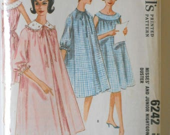 Vintage Nightgown and Duster Pattern • 1962 McCall's Pattern
