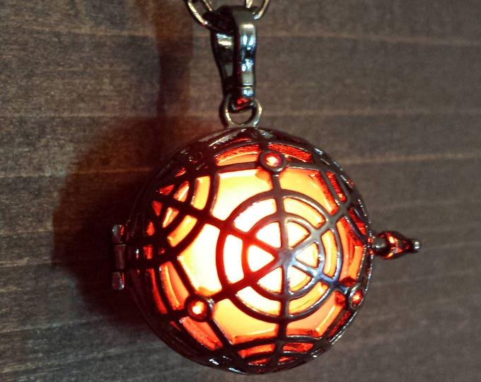 Magical Circle Glowing Magick Pendant Locket LED jewelry