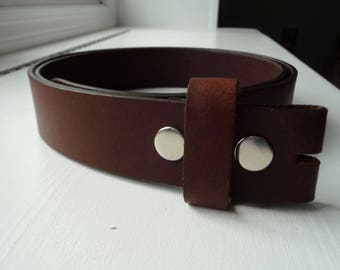 "Gorgeous Dark Brown Leather Belt Strap - Mens Brown Snap On Belt - Casual Belt - Jean Belt - 1.5"" - 2XL xxl 43 44 45 - More Styles Avail"