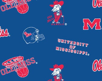 Ole Miss Rebels NoSew Fleece Blanket