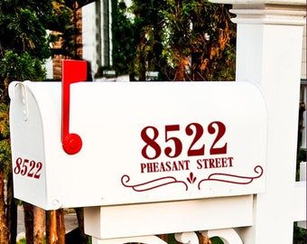 Mailbox House Number Vinyl Decal Sticker Set , Mailbox door decal, Street address sign for mailbox, Mailbox Numbers, Custom Decals, New home