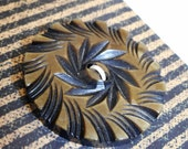Large VINTAGE Spiral Layer Carved Celluloid BUTTON