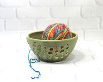 Yarn Bowl - Knitting Bowl - Pottery Yarn Bowl - Ceramic Yarn Bowl - Yarn Holder - Bowl for Holding Yarn - Bowl for Knitters - Yarn Keeper