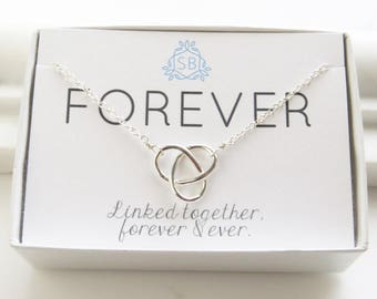 Best Friend Gift • Infinity Knot • Infinity Necklace • Mother & Daughter • Infinity Jewelry • Love Knot Jewelry • Friends Forever •