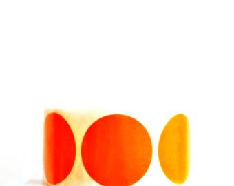 Orange Seals {20} 50mm Stickers | Envelope Seals | Orange Dot Stickers | Housewarming | Sweet 16 | Orange Gift Seals