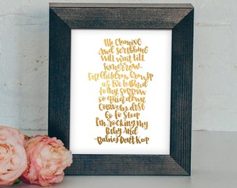 Babies Don't Keep | Hand lettered and Illustrated Wall Art Print