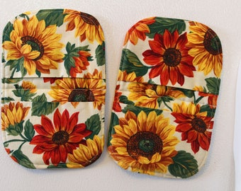 flower power magnetic microwave mitts