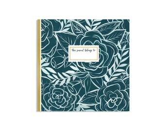 Astoria Rose Gridded Journal // 1canoe2 // Hand Illustrated