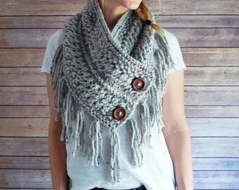 The Feather + Fringe Buttoned Cowl + Made to Order
