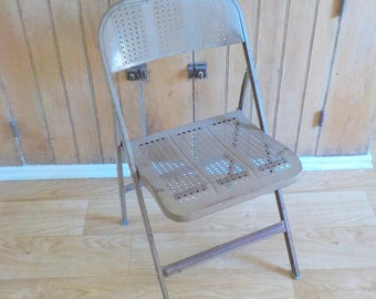 Metal Folding Chairs Etsy