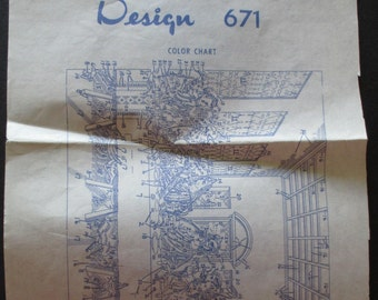 Design 671, The Last Supper, hot iron transfers, used
