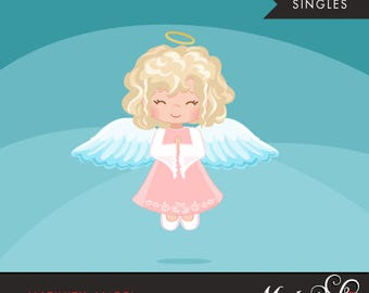 Nativity Angel Clipart. Christmas angel Blonde, holiday, illustration, graphic, cute, character, religious, christian, holy, bible
