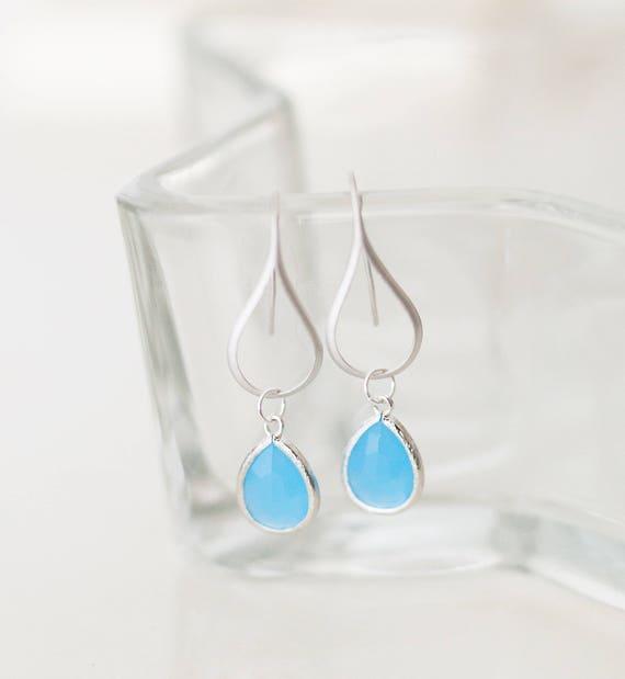 Ocean blue drop earrings