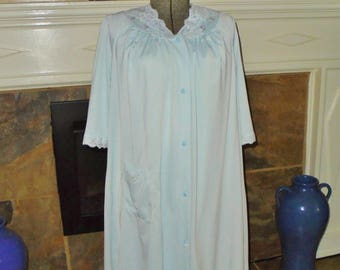 Vintage Shadowline Nightgown Robe set baby Blue sz small Vintage lingerie