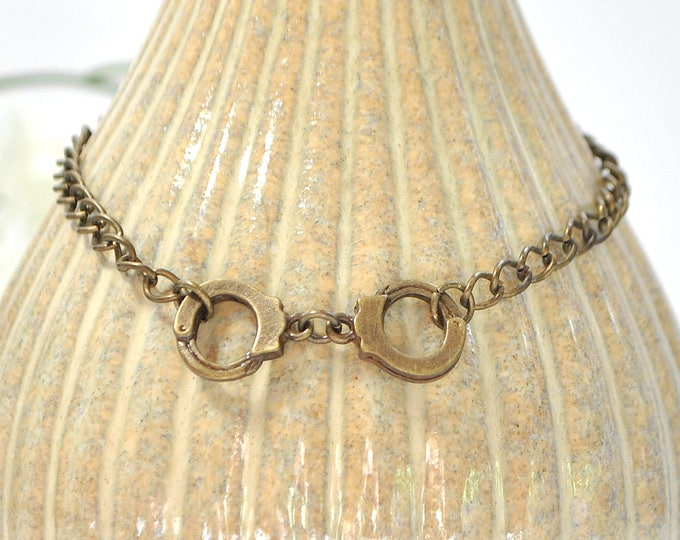 Cuff Anklet Handcuff Anklet Charm Ankle Bracelet Bronze Ankle Bracelet Chain Anklet