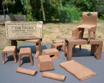 Antique Tom Thumb Furniture Puzzle No. 15